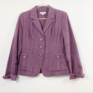 Coldwater Creek Purple Blazer